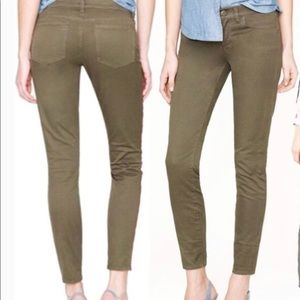 J.Crew Toothpick Ankle Jeans Green Size 25